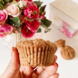 Vanilla, Cinnamon & Applesauce Muffins (Gluten Free, Butter Free, Eggless, Oil Free, Vegan, Refined Sugar Free)